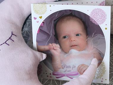 Papeterie de naissance thème petite-fée