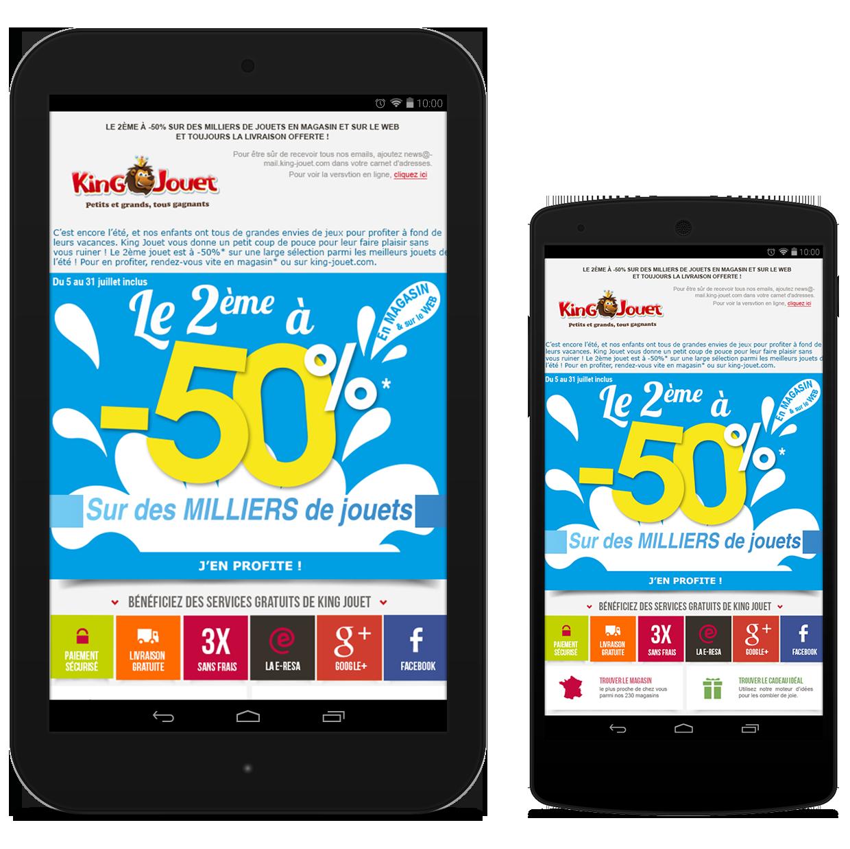 Newsletter King Jouet été 2015 - Le 2ème à -50%