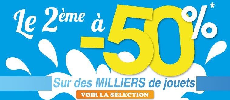 Le 2ème à -50% - Eté 2015 Publicité Homepage site Web