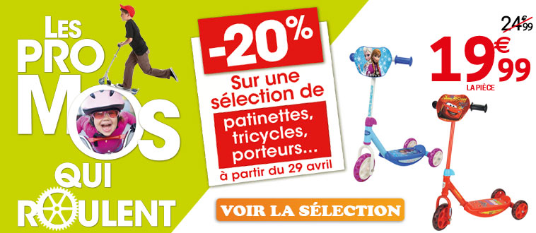 Les promos qui roulent - Avril 2015 Publicité Homepage site Web