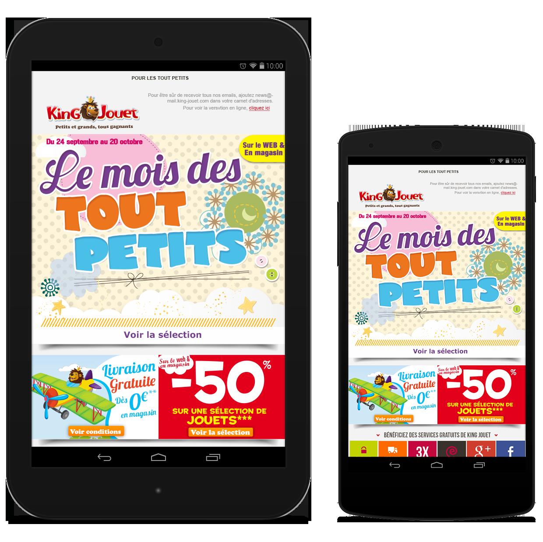 Newsletters King Jouet - Le mois des tout petits