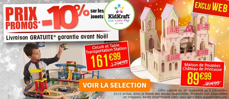 Publicité Homepage site Web - Prix promos kidkraft - Déc 2015