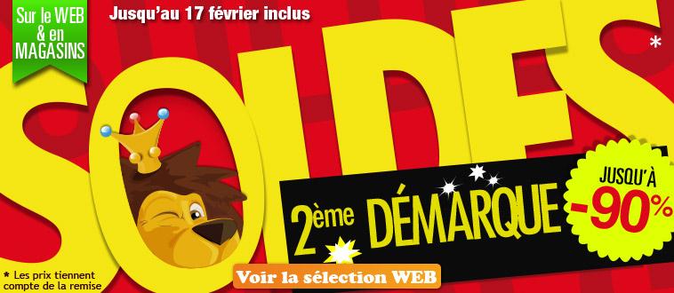 Publicité Homepage site Web - Soldes 2ème démarque