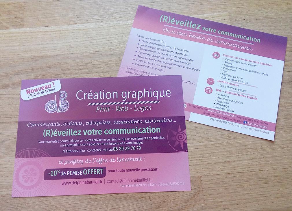 Flyer Delphine Barillot Graphiste indépendante