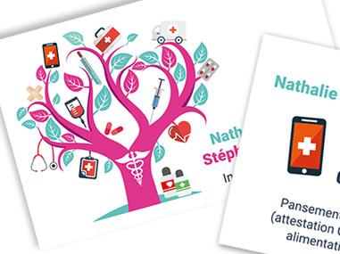 Carte de visite pour un cabinet d'infirmières