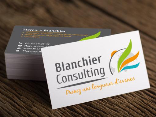 Identité visuelle pour Blanchier Consulting