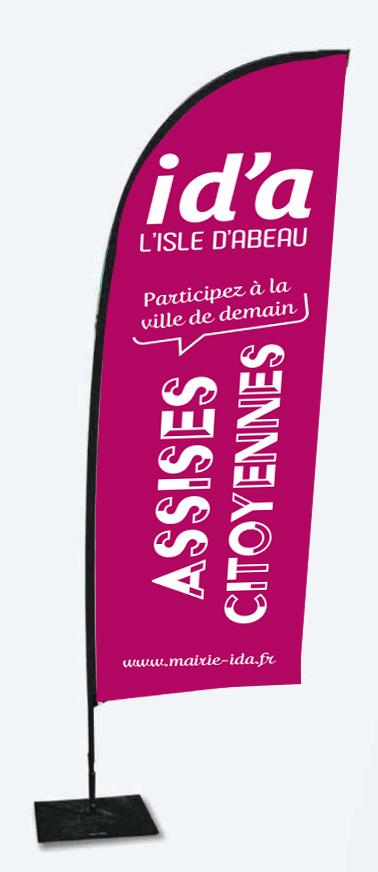 Drapeau pour les Assises Citoyennes de l'Isle d'Abeau