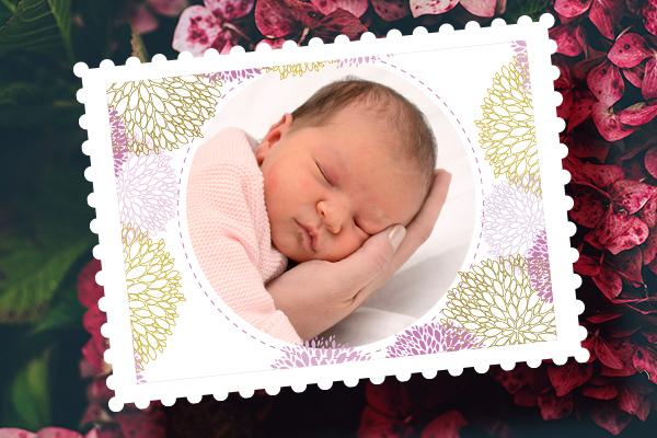 Timbre naissance personnalisé