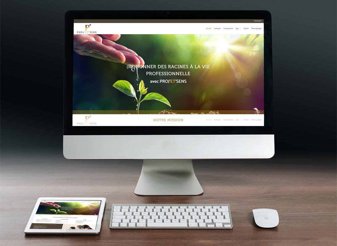 Proj'et'sens - Création site web - Page d'accueil