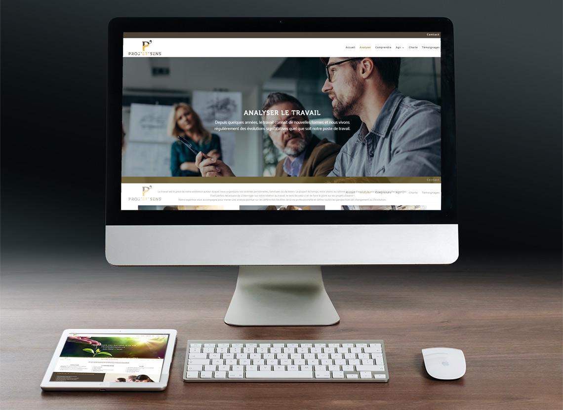 Proj'et'sens - Création site web - Rubrique Analyser