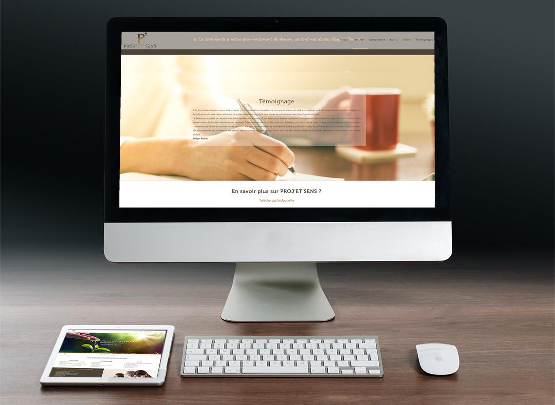 Proj'et'sens - Création site web - Page Charte