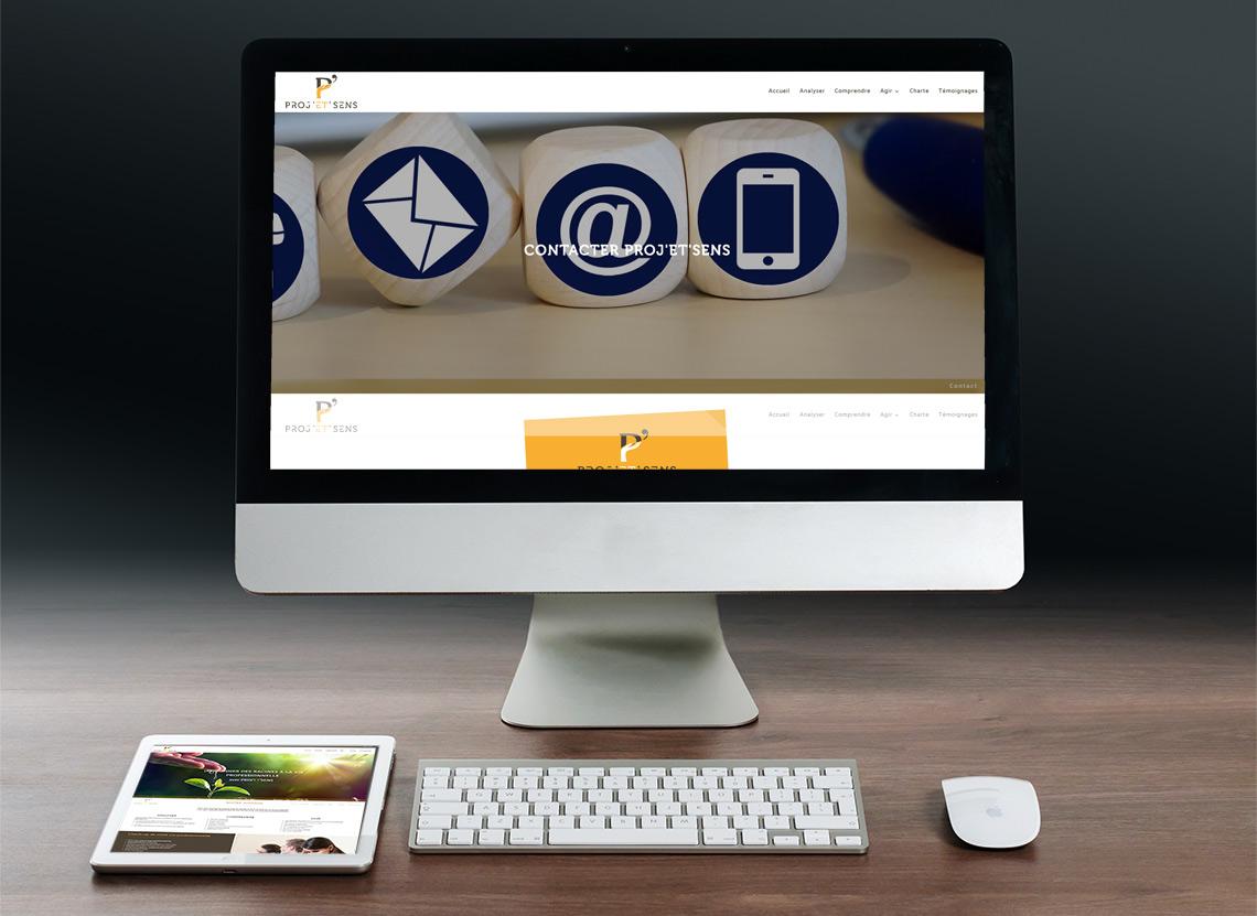 Proj'et'sens - Création site web - Page Contact