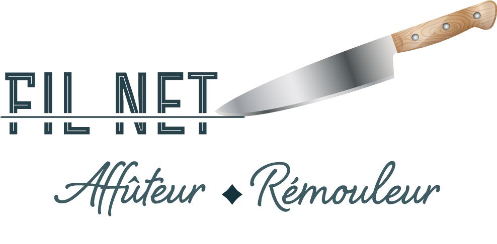 Logo créé pour l'atelier d'affûtage remoulage Fil Net