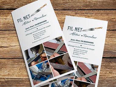 Flyer et dépliant Fil Net