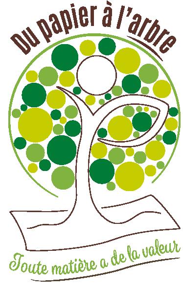 Logo créé pour Du Papier à l'Arbre