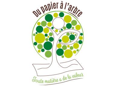 Logo et carte de visite pour Du Papier à l'Arbre